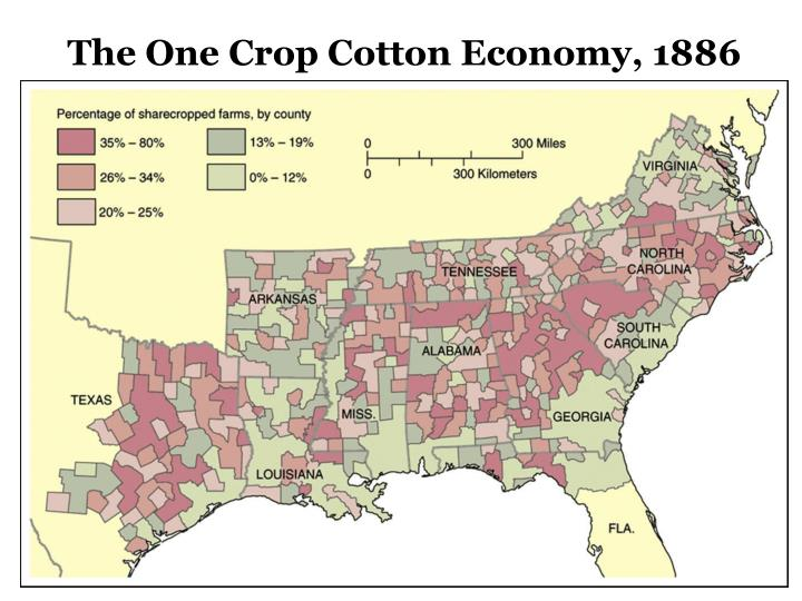 The One Crop Cotton Economy, 1886