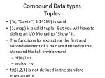 compound data types tuples