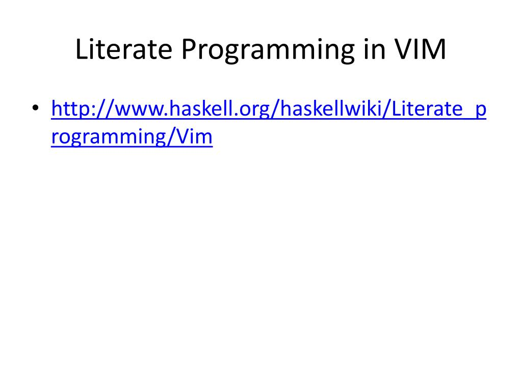 Literate Programming in VIM