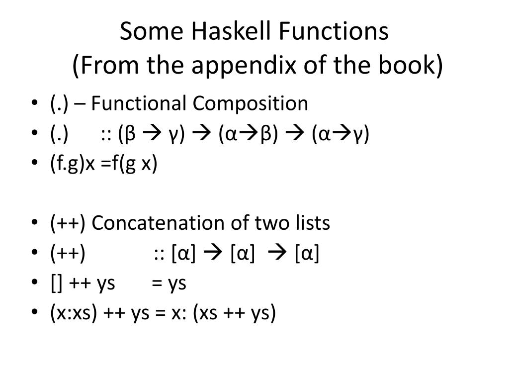 Some Haskell Functions