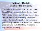national efforts to regulate the economy