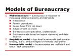 models of bureaucracy