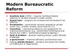 modern bureaucratic reform