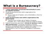 what is a bureaucracy
