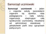 samorz d uczniowski