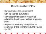 bureaucratic roles