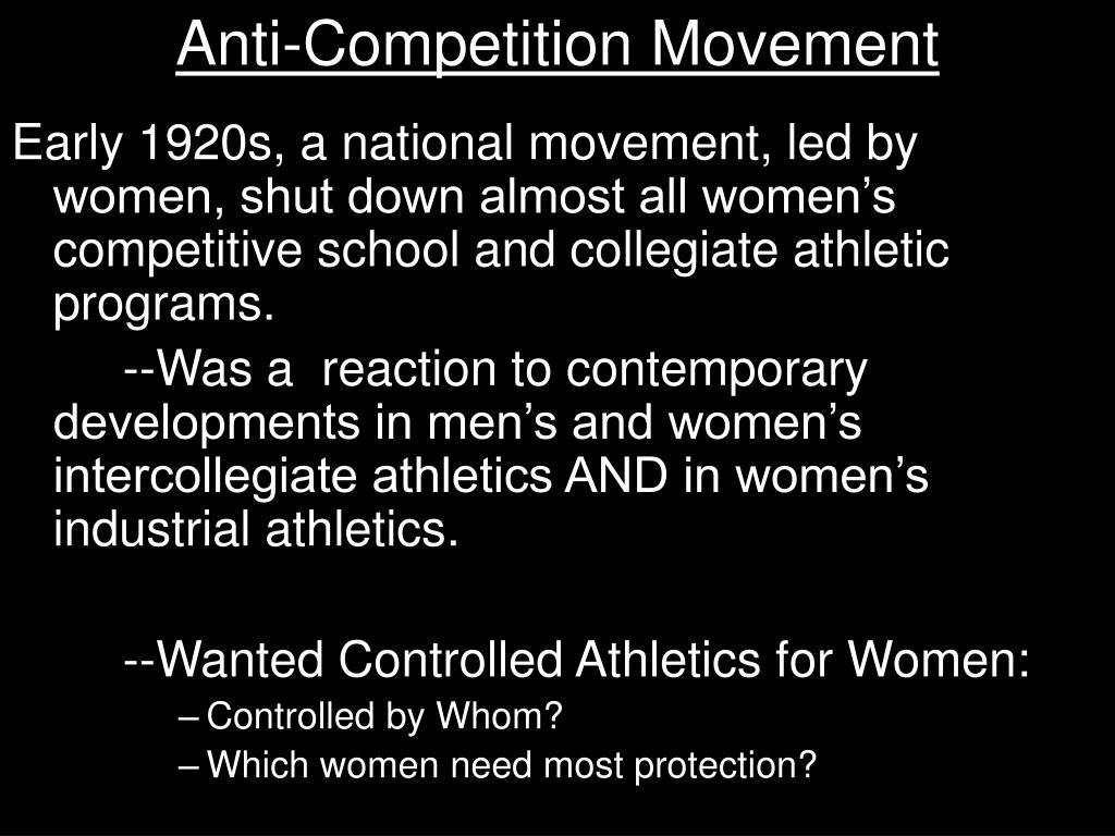 Anti-Competition Movement