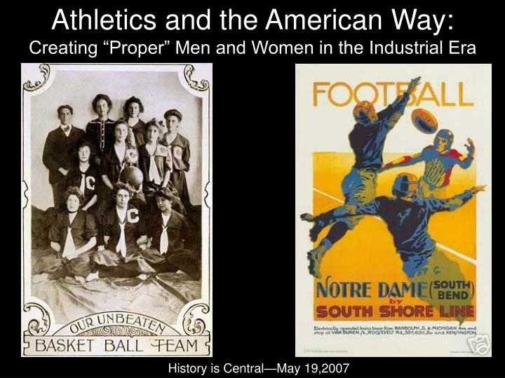 athletics and the american way n.