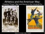 athletics and the american way