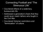 connecting football and the strenuous life