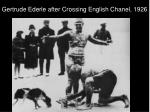 gertrude ederle after crossing english chanel 1926