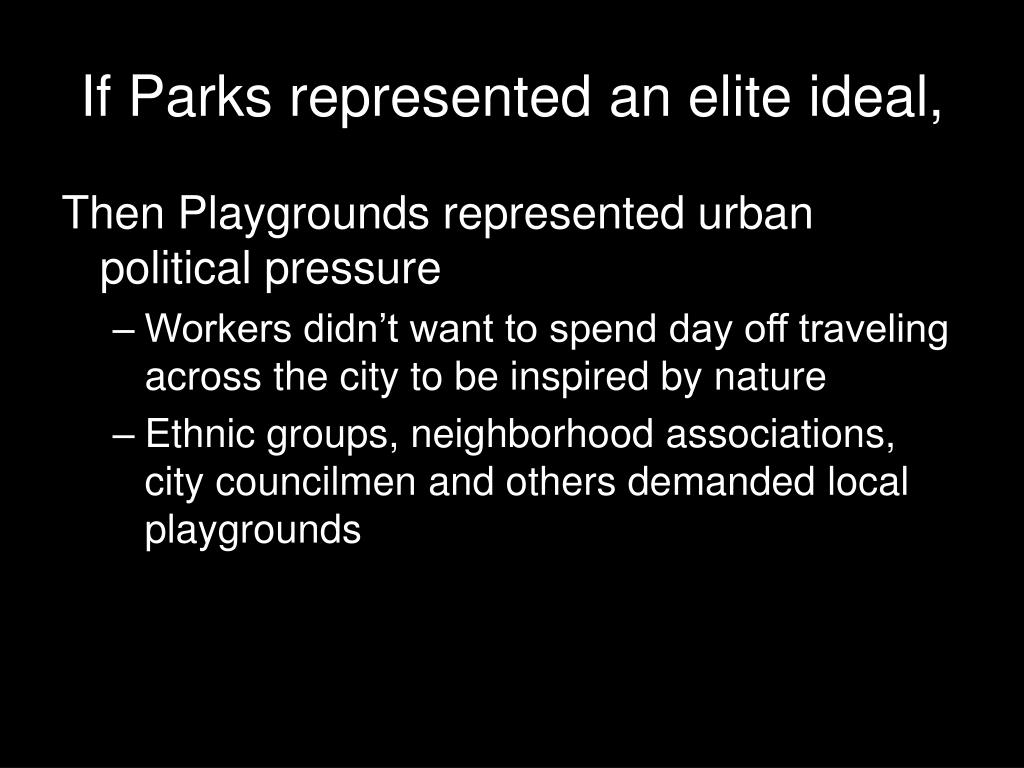 If Parks represented an elite ideal,