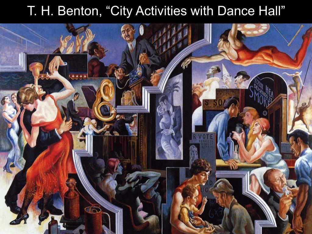 "T. H. Benton, ""City Activities with Dance Hall"""