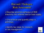 harvard tuskegee risk assessment