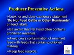 producer preventive actions