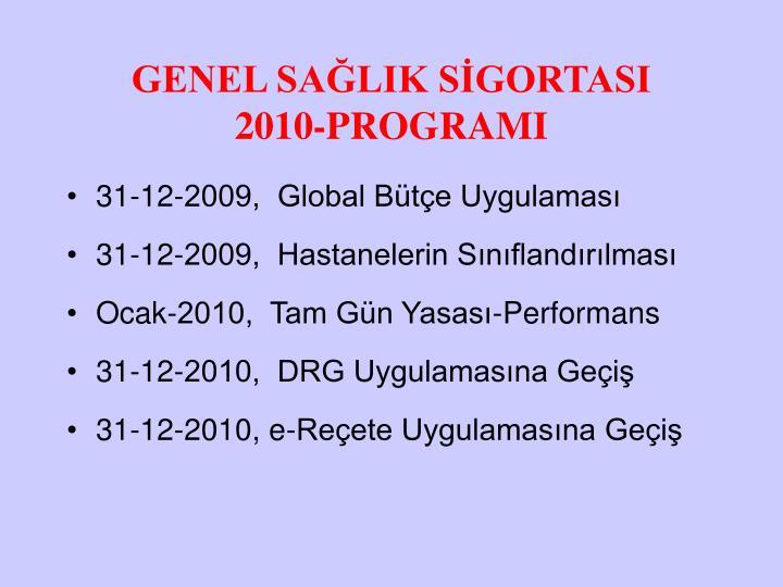 Genel sa lik s gortasi 2010 programi