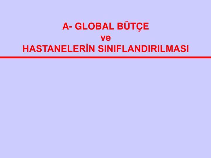 A- GLOBAL BÜTÇE