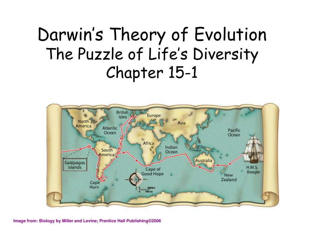 darwin s theory of evolution the puzzle of life s diversity chapter 15 1 l.