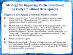 strategy for impacting public investment in early childhood development