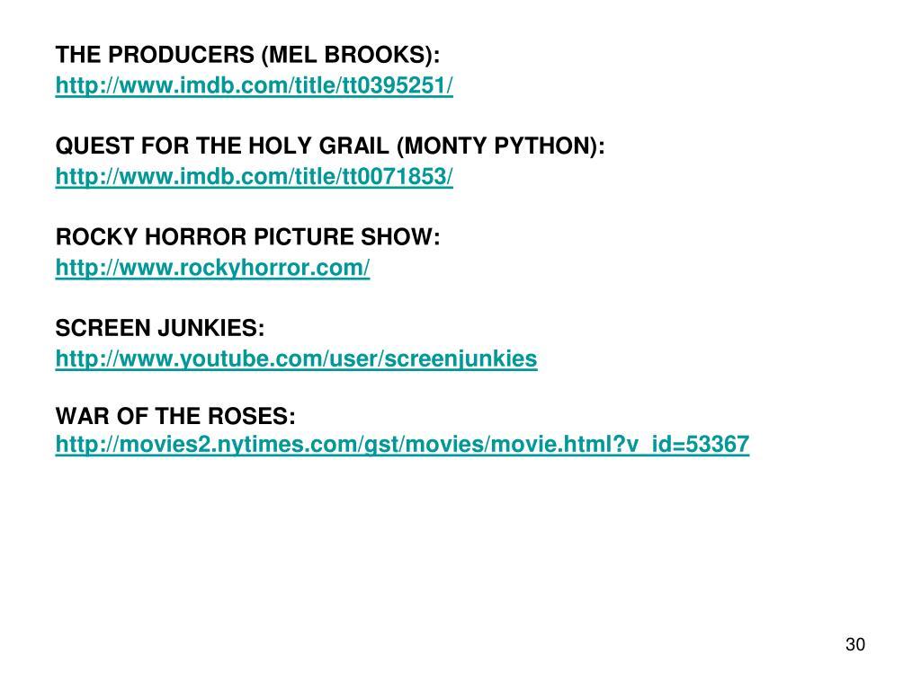 THE PRODUCERS (MEL BROOKS):