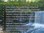 projects funded in fy11