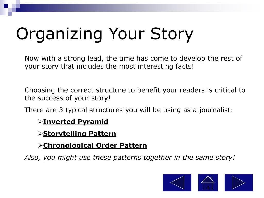 Organizing Your Story