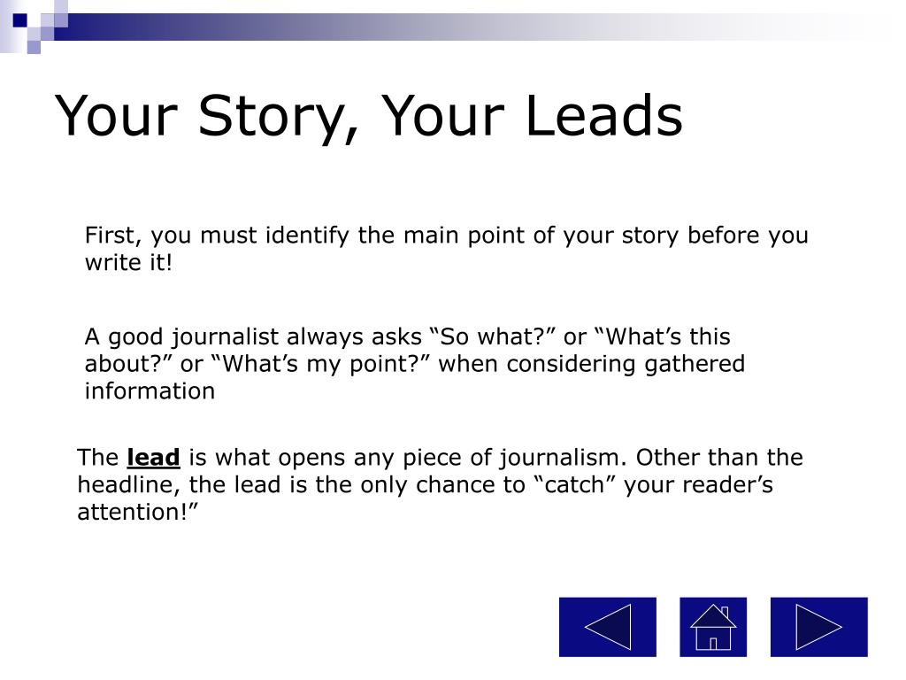 Your Story, Your Leads