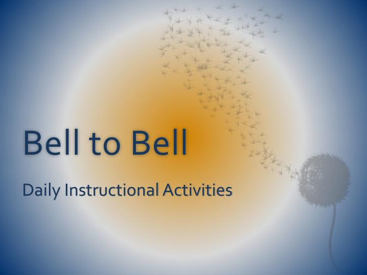 bell to bell n.