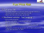 fuel price risk