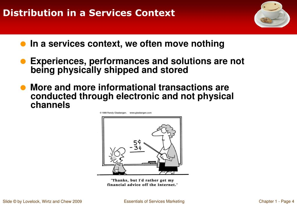 Distribution in a Services Context