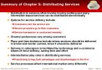summary of chapter 5 distributing services