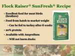 flock raiser sunfresh recipe