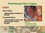 nutritional hot topics