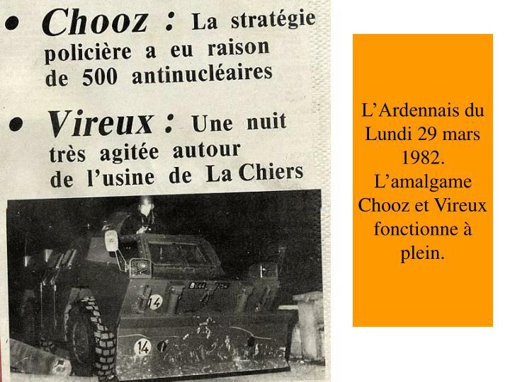 L'Ardennais du Lundi 29 mars 1982.