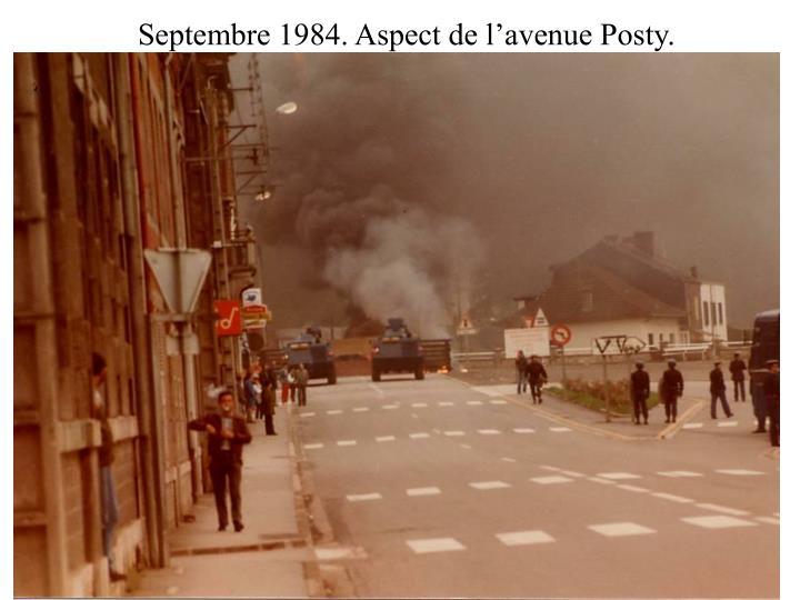 Septembre 1984. Aspect de l'avenue Posty.