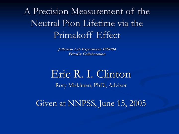 A Precision Measurement of the Neutral Pion Lifetime via the Primakoff Effect