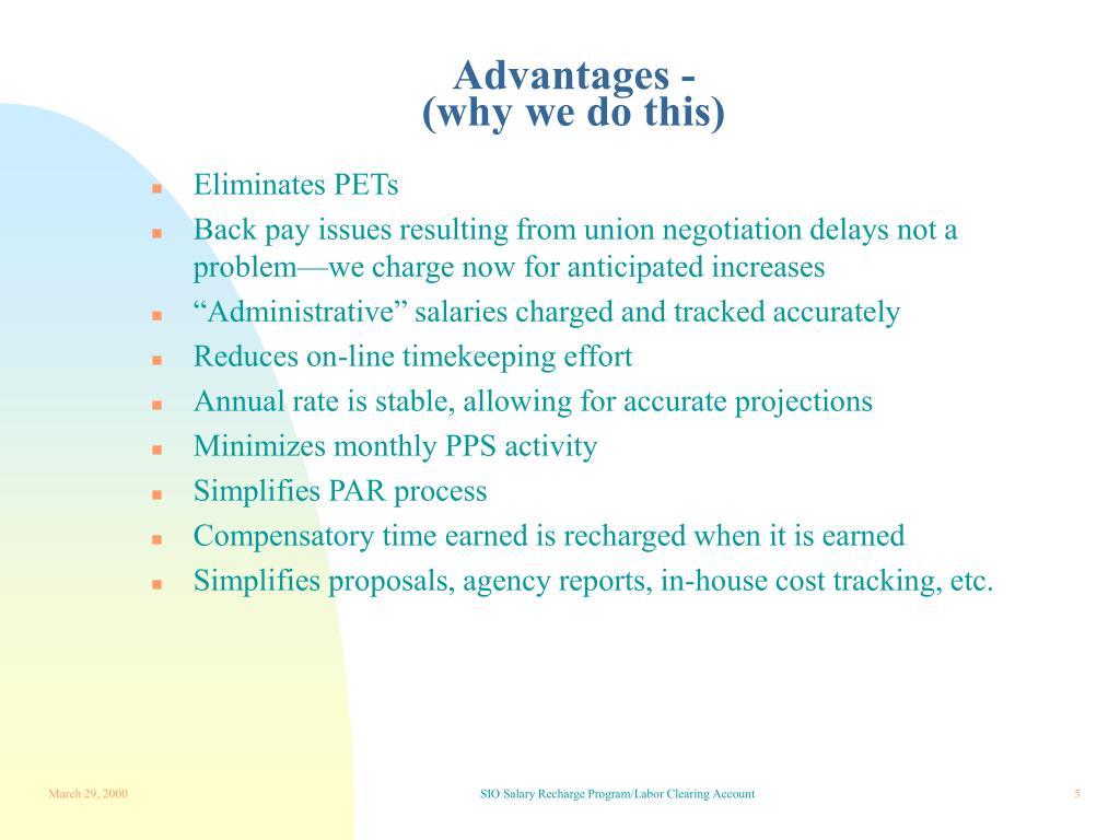 Advantages -
