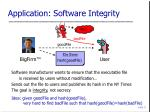 application software integrity