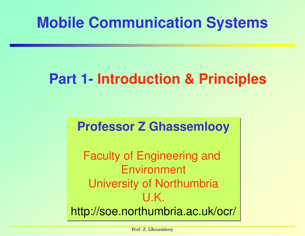 mobile communication systems l.