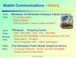 mobile communications history
