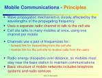mobile communications principles