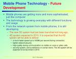 mobile phone technology future development