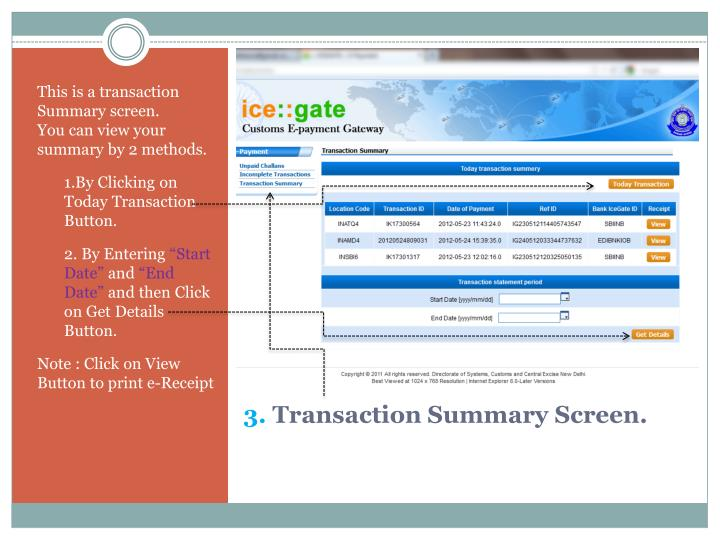 This is a transaction Summary screen.