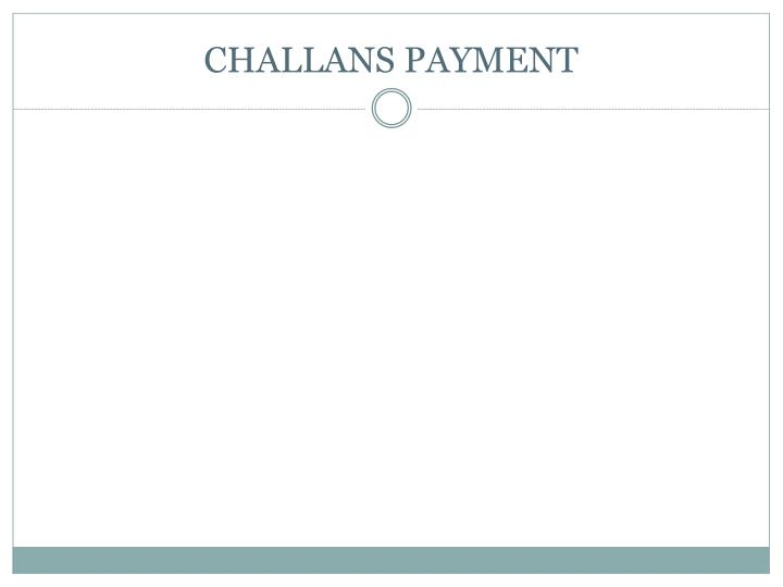 Challans payment