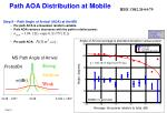 path aoa distribution at mobile