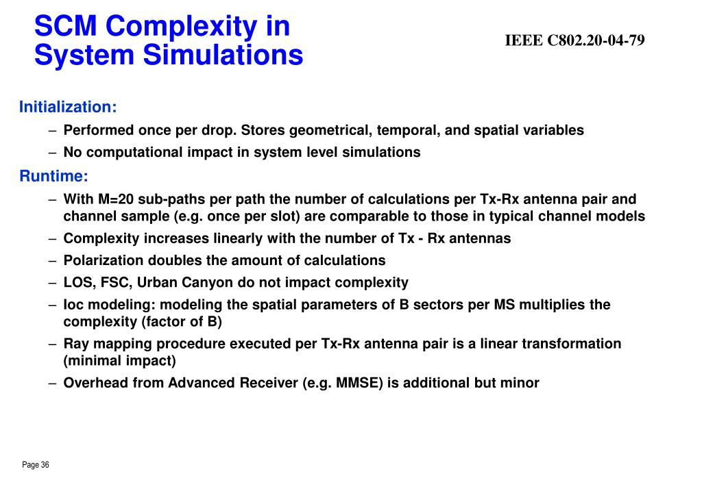 SCM Complexity in