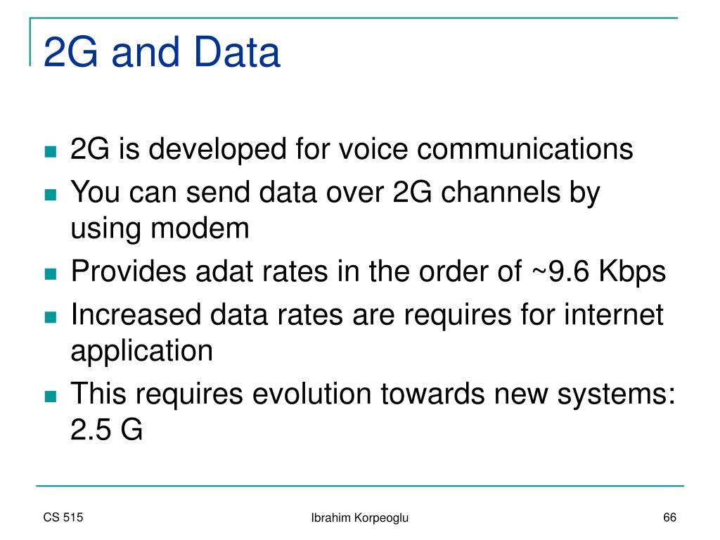 2G and Data