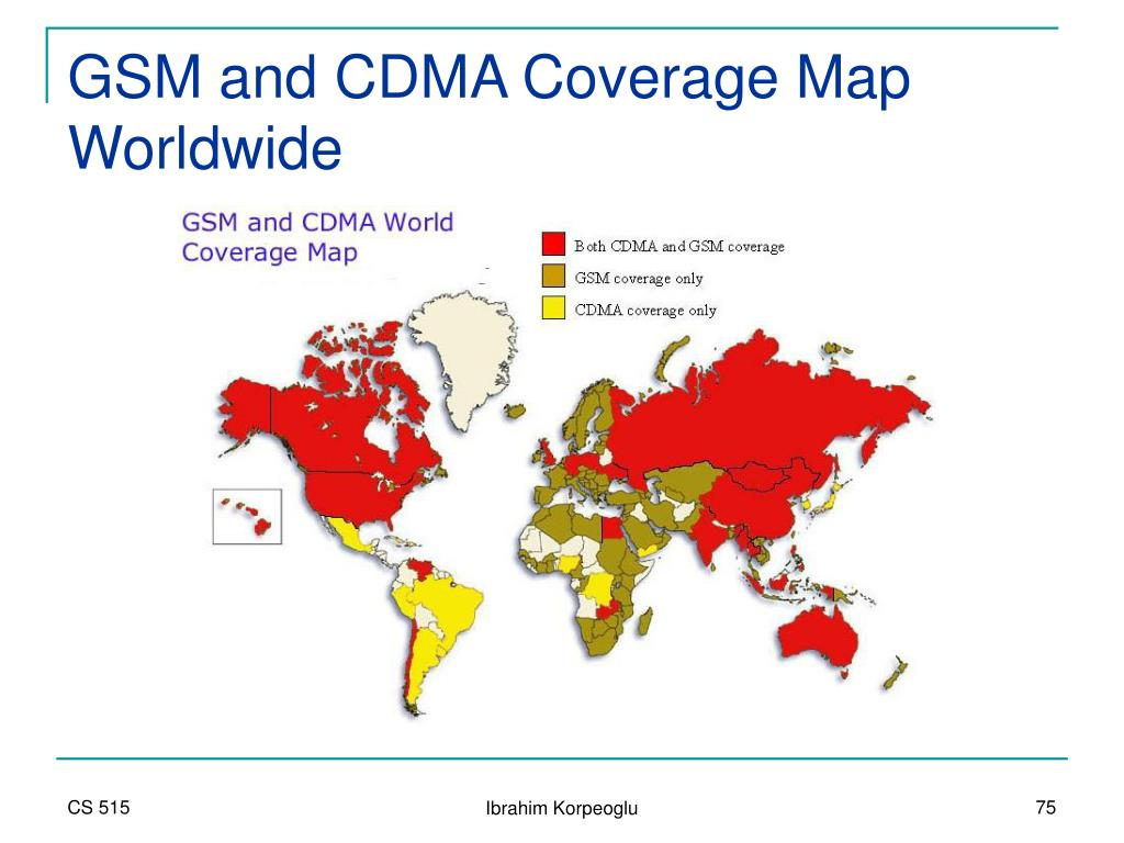GSM and CDMA Coverage Map Worldwide