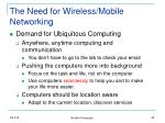 the need for wireless mobile networking
