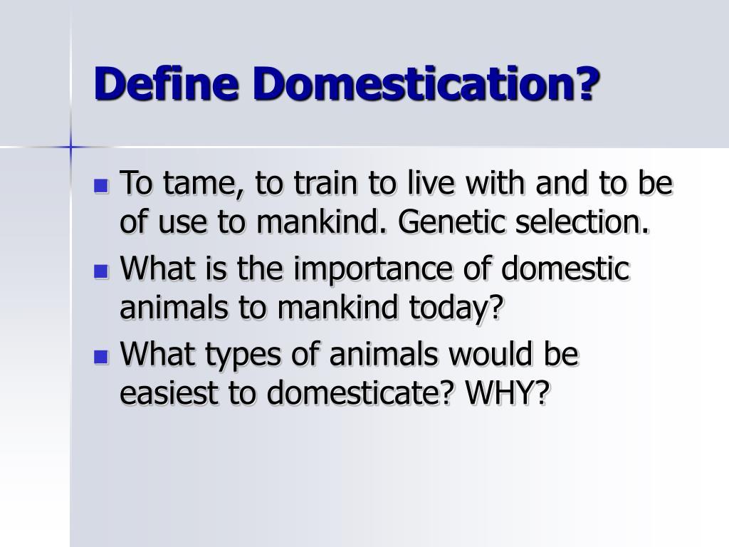 Define Domestication?